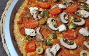Pizza à la pâte de chou-fleur