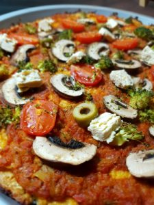 garniture de la pizza vegan