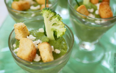 Verrines de brocoli 🥦 à La Carrée et croûtons à l'ail