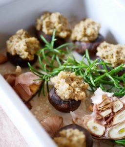 Champignons rôtis au porridge
