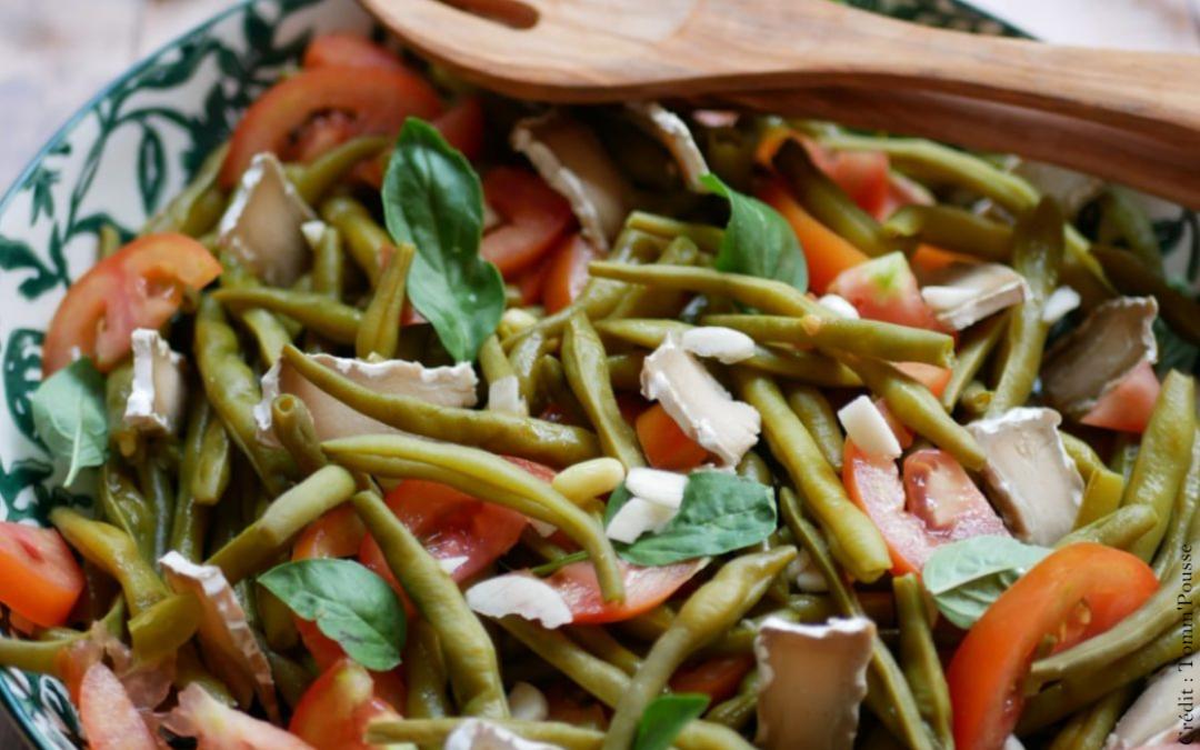 Salade de haricots verts au basilic 🍃