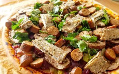 La recette de Maïlys : pizza au CamemVert à l'ail noir