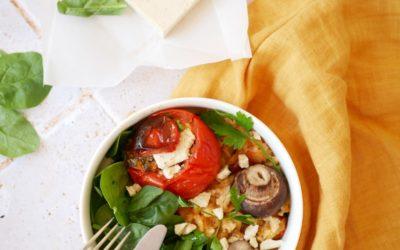 Tomates farcies à La Carrée aux fines herbes